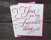 You Are My Favorite Thing Letterpress Card