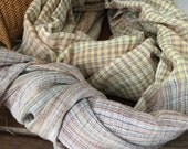 Spring cotton handwoven natural dyed scarf #3