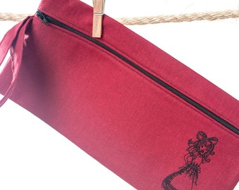 Custom Wristlet Alice in Wonderland Zipper Pouch