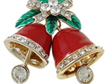 1pc beautiful antique gold with enamel and rhinestone bell-9809