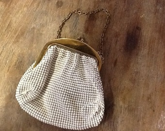1930's Whiting & Davis White Mesh Purse