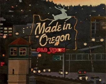 Made in Oregon Limited Edition Print, Portland, Burnside Bridge
