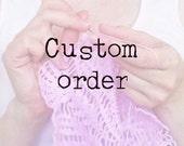 CUSTOM ORDER for JoAnne: 3 white cotton crochet doilies