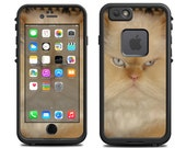 Skins FOR the Lifeproof iPhone 6 Case (Lifeproof Case NOT included) - Ugly Cat Smashed Face - Free Shipping