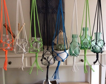 Macrame pot hanger - Small