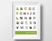 Printable Alphabet Poster - Animal
