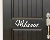 Welcome Decal - Front door decal - door decal - welcome sticker