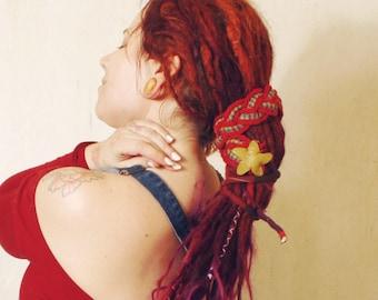 Hippy headband Dreads accessories Gypsy headband Boho headband Festival headband Elvish hair Elf headband woodland headband