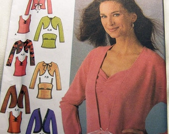 Simplicity 4779 uncut KNITS ONLY size 6 - 12 womens top and jacket