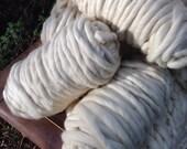 Super Bulky Chunky Cream Wool Hand Spun Yarn Wool Ivory Chunky Yarn