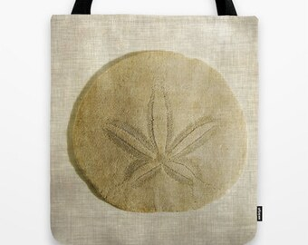 Sand Dollar Photo Tote Bag, Seashell, Beach Bag, Photo Tote, Tote Bag, Reusable Tote, Nature, Photography