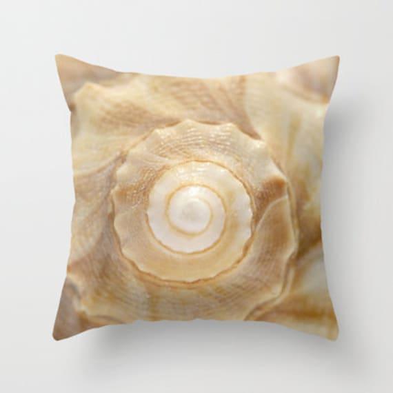 Lightning Whelk Seashell Photo Throw Pillow, Photo Throw, Pillow, Seashells, Beach Decor, Nautical, Nature