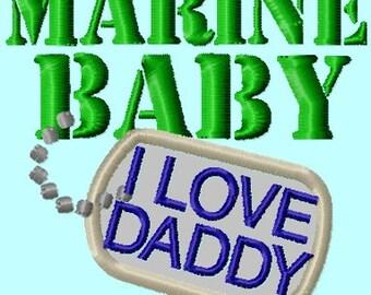 Marine Baby Badge APPLIQUE Embroidery Design INSTANT DOWNLOAD