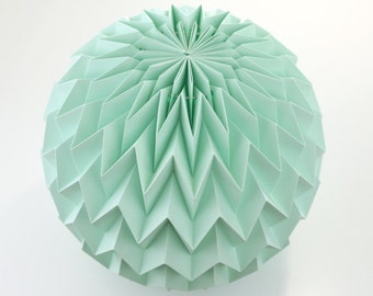 BUBBLE: Hanging Decor Origami Paper Ball - Mint / FiberStore by Fiber Lab
