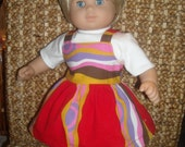 """Bitty Baby, 15-17"""" Doll Clothes Red Sundress, T-Shirt and Sandals"""