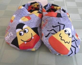 Halloween Candy Corn Baby Booties, Halloween, Baby, Booties, Boys, Girls, Handmade