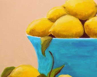 Summer Lemons 11x14x1.5 Original Oil Painting