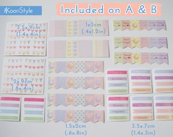 170 Handmade Planner Stickers: Type-A Set