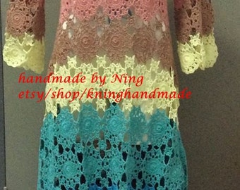 Summer Crochet Dress/Crochet Fashion dress,Spring ,Summer , Women Clothes /  No.CB-47