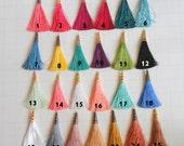 Silk Tassel Charms, Tassels Set of 5, Jewelry Making Tassels,  Handmade Tassels