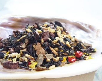 Tea Sample - Faun -  black loose leaf tea - Chocolate Chai