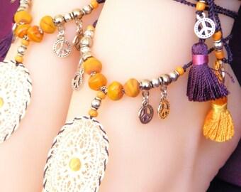 BP8 - Foot jewels - Bahia Del Sol - Sold by two (1 pair).
