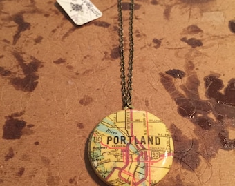 Portland Map Locket