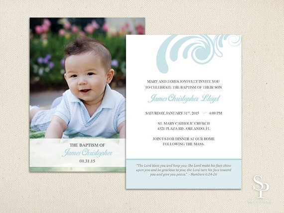 diy baptism invitation photo baptism invite christening  etsy, Baptism invites