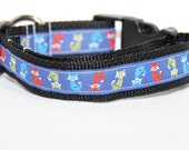 Fox Dog Collar, FREE SHIPPING, foxes, dog collar, adjustable dog collar
