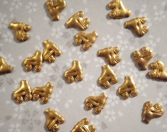 24 Brass 8mm Rollerskate Findings