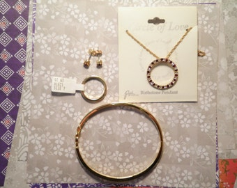 1 Set of Gigi Ruby July Birthday Jewelry