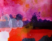 Abstract Art Abstract Painting Abstract Drawing Abstract Panorama Abstract Collage Abstract Wall Art Abstract Fine Art Orange Pink Abstract