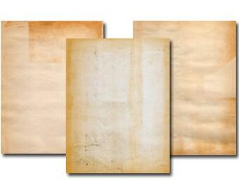 Vintage digital paper - Instant download - Scrapbook - Digital collage sheet - Old looking paper