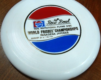 Frisbee - 1975 Invitational Flying Disc World Championships - Pasadena Jaycees - Wham-o - Pepsi
