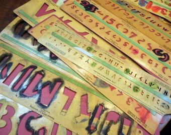 Vintage stencils - mid-century - signmaker supply