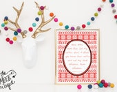 INSTANT DOWNLOAD, Christmas Vacation Quote Printable, No. 253-2