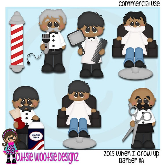 2015 When I Grow Up Barber AA African American Clip art
