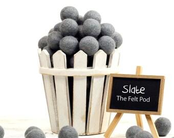ORG-SL Felt Balls -  2.5 cm - 25 count - Slate