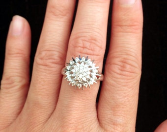 ONLY One Available Sun Burst Diamond Cluster Ring
