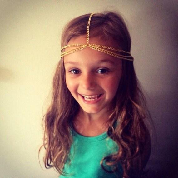 Girls Head Chain- kids accessories, girls hair accessory, kids head chain, boho kids accessories, kids head piece, kids fashion, trendy kids
