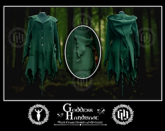 The Tendril Coat - Witchy spirals polar fleece pixie jacket,