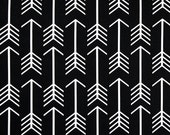 1 yard Black White  Arrow Premier Prints -  Home Decor Duck Cloth