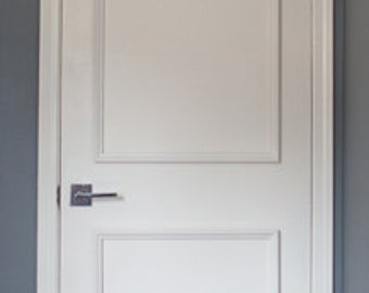 For UK Intnu0027l Orders- New DIY SERIES! 18  Two Panel Door & Instant Wall u0026 Door Moulding Kits by LuxeArchitectural pezcame.com