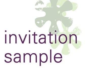 Invitation Suite Sample
