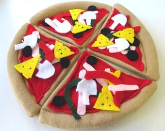 Felt Play Food Pizza, Takeaway Whole Pizza Pretend Food