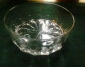 Crystal glass bowl. Heavy