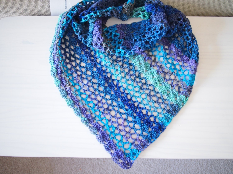 Lace Triangle Shawl Crochet Pattern : Crochet pattern triangle shawl lace shawl woman wrap DIY