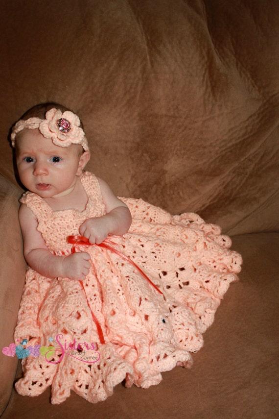 Crochet Dress Crochet Baby Dress Crochet Newborn Dress
