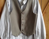 Boys size 16 pioneer shirt and vest; great for mormon pioneer trek, plays, or other reenactments