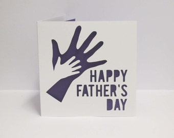 Father's Day Holding Hands papercut card